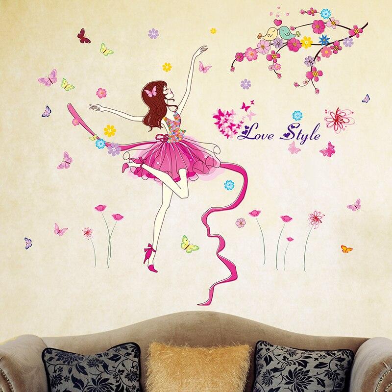 [SHIJUEHEZI] Балет әртісі Wall Sticker - Үйдің декоры - фото 3