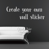 Custom Wall Sticker Personalized Wall Decal Contact Us First Design Your Own Sticker Customized Wall Sticker