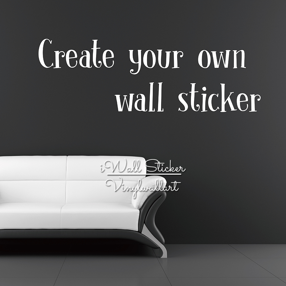 Charming Custom Wall Sticker Personalized Wall Decal Contact Us First Design Your  Own Sticker Customized Wall Sticker C0 1 In Wall Stickers From Home U0026  Garden On ...