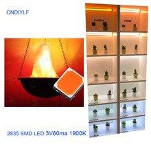 100pcs/lot SMD LED 2835 lamp beads highlight 0.2W orange amber light-emitting diode