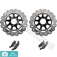 Pair New Motorcycle Front Brake Discs Rotors Pads For SUZUKI DL 650 DL650 V STORM 04