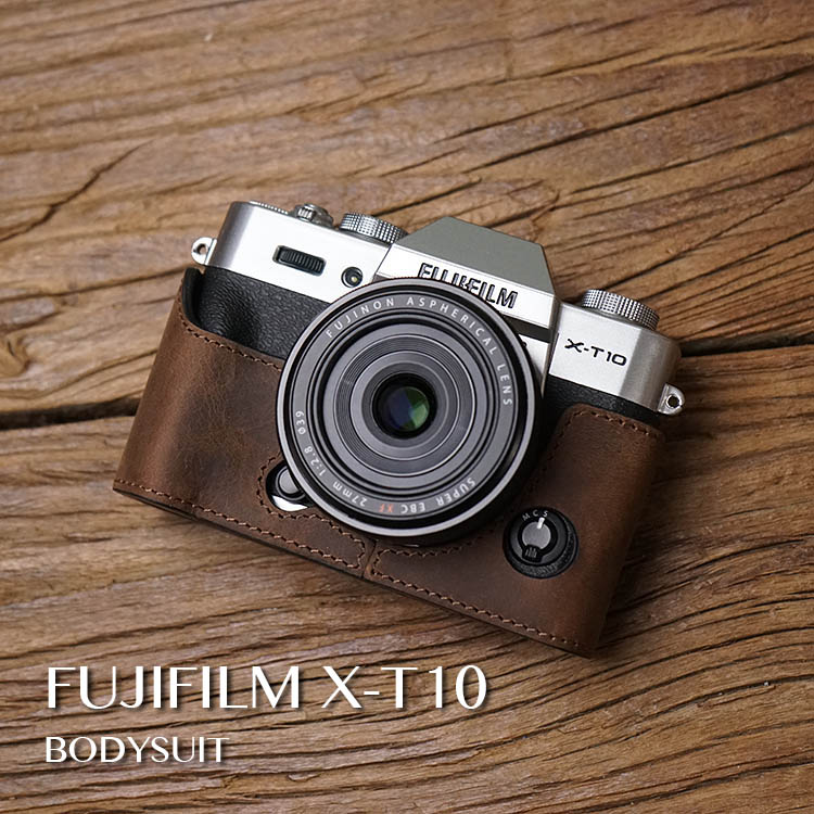 Mr Stone Genuine Leather Camera case Video Half Bag Retro Vintage Bottom Case For Fuji Fujifilm