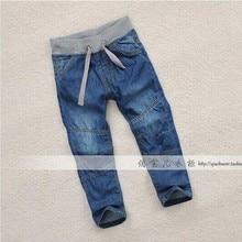 Мальчики бутик джинсы европейский стиль весна и осень деним брюки мальчики марка узкие джинсы