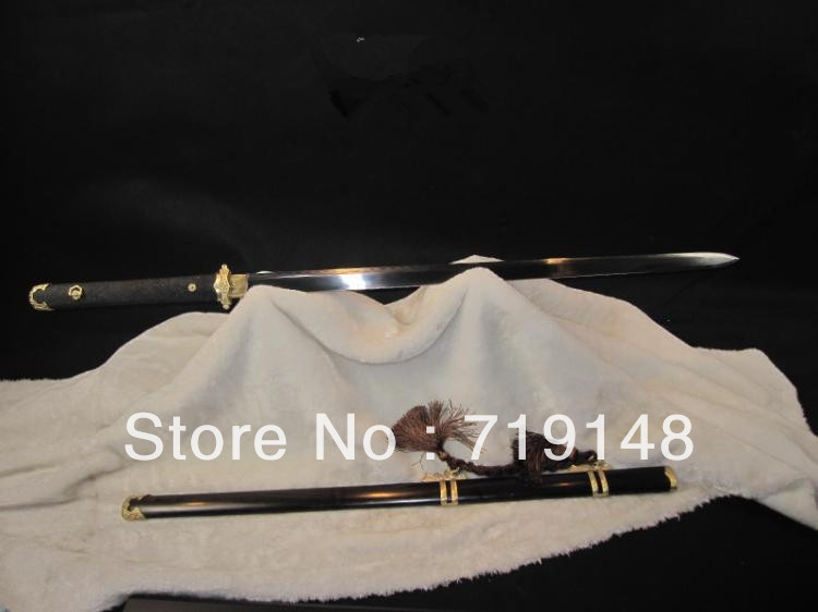 Longquan sword / burning blade tang /t10 steel manual Pro hot high-end cut Tie Jian - Chinese wushu longquan arts and crafts store
