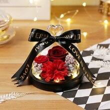 Подарки на день учительницы для матери вечная эксклюзивная Роза в стекле на День святого Валентина розы подарок на день рождения сушеные цветы