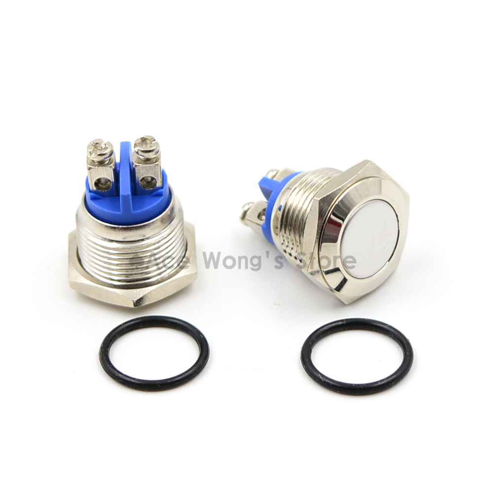 16mm Start Horn Button Momentary Stainless Steel Metal Push Button Switch Hot Worldwide стоимость