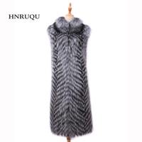Real fox fur vests