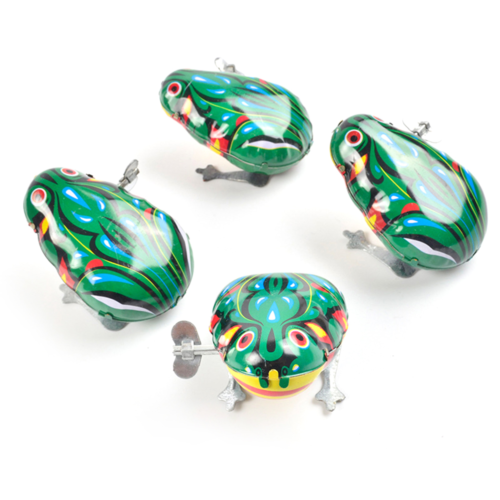 Kids Classic Tin Wind Up Clockwork Toys Jumping animal For Frogs Vintage Toy For Children Boys Educational Free Shipping