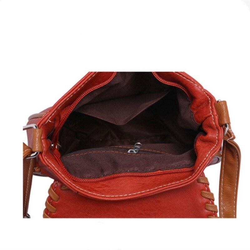 CLELO nueva moda mujeres pu bolsas de mensajero suave mini solapa - Bolsos - foto 6