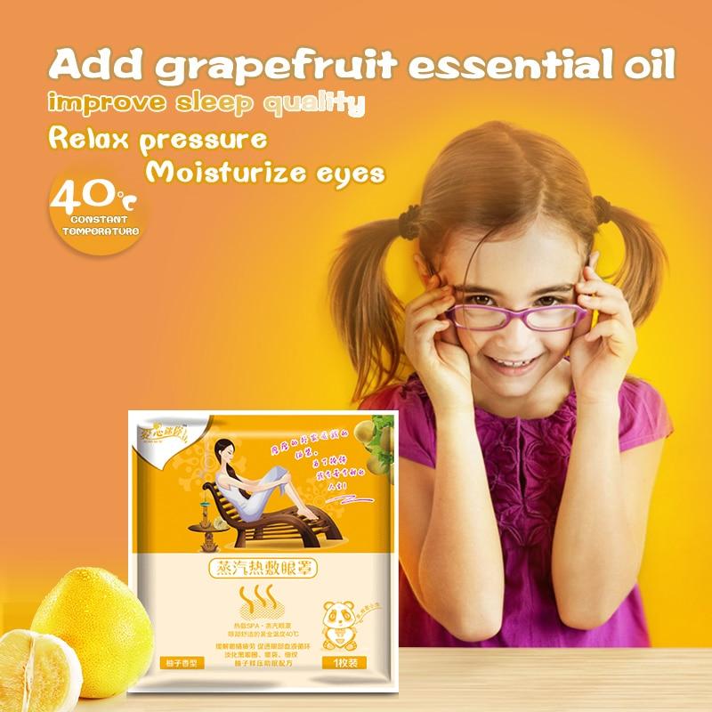 1 sac pamplemousse soin des yeux masque à la vapeur Patch chaud 12.5 - Soins de santé - Photo 1