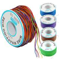 30AWG Jump Wire 8 Color Wrapping Tinned Copper Solid PVC Insulation Single Strand Ok Wire Electrical Wire 265m Copper Cable F30