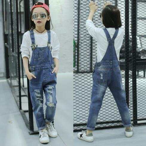 09c8bee453d0 placeholder Girls Jumpsuit Dungarees For Kids Pants Overall Denim Jumpsuit  For Kids Baby Jeans Overalls 2018 Autumn