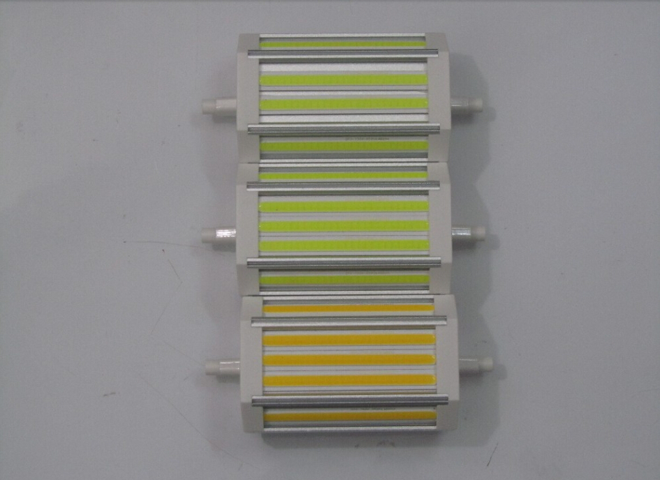 free shipping 10pcs/lot r7s 118mm 30W dimmable led cob r7s light for AC100-250V 3 years warranty cob light Lawn Lamps