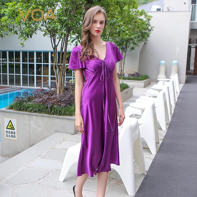 Ekouaer 2017 Deep V Neck Nightwear Women Sexy Lace Trim