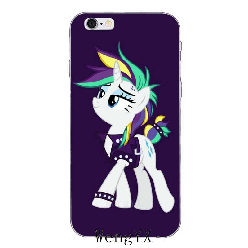0ec4cb8af2 lovely purple my little pony Rarity Slim silicone Soft phone case For  iPhone 4 4s 5 5s 5c SE 6 6s plus 7 7plus 8 8plus X