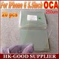 20 unids OCA optical adhesive clear 250um Para iphone6PLUS/6 sPLUS adhesivo libre de Poste de China el Correo Aéreo Registrado/ePacket
