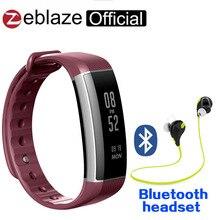 Zeblaze zeband плюс монитор сердечного ритма мультиспорт записи управления фитнес-трекер как для iOS и Android