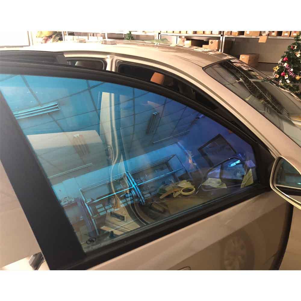 1.52 m x 6 m Caméléon Couleur Bâtiment Fenêtre Feuille 55% VLT Solaire Protection Auto Fenêtre Décoratif film teintant