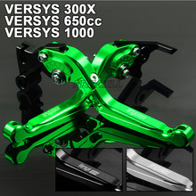 For Kawasaki VERSYS 300X 650cc 1000 CNC Aluminum Motorbike Levers Motorcycle Brake Clutch Levers Foldable Extendable Adjustable цены