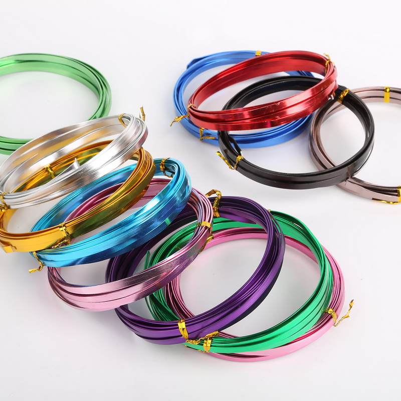 купить 3m/roll 5mm width 1mm thickness Flat aluminum wire Aluminum crafts materials Jewelry making findings по цене 124.44 рублей