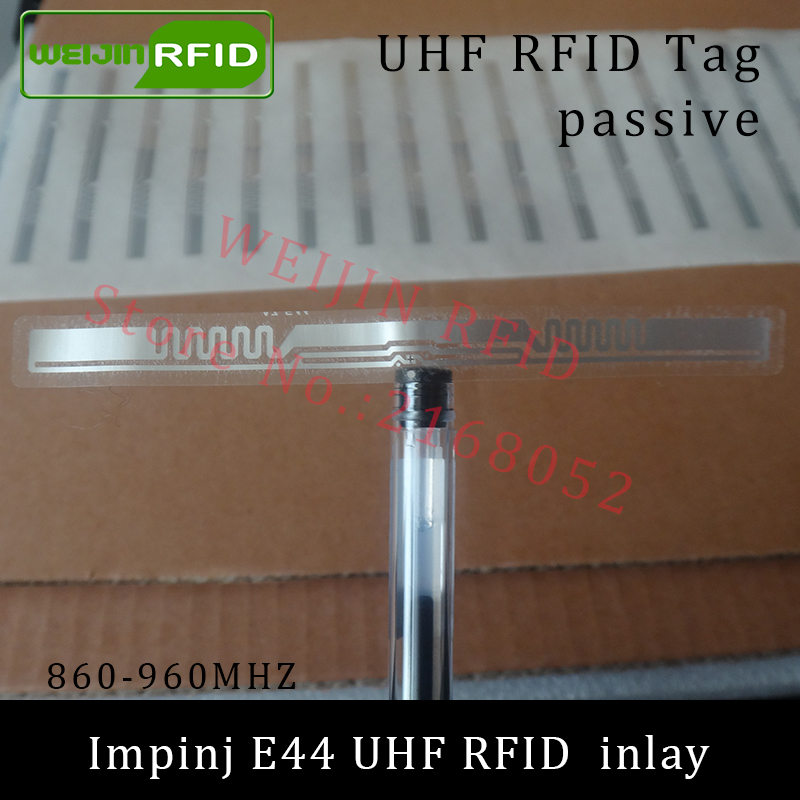 UHF RFID tag Impinj E44 dry inlay 915mhz 900mhz 868mhz 860-960MHZ  EPCC1G2 ISO18000-6C smart card passive RFID tags label 860 960mhz long range passive rfid uhf rfid tag for logistic management