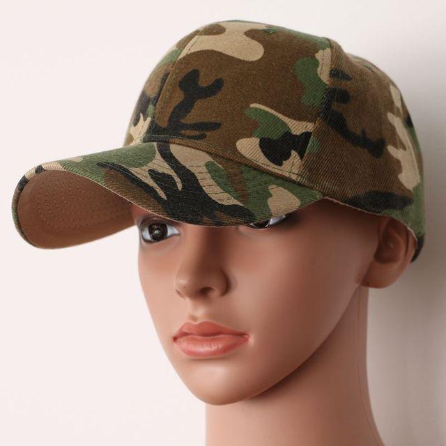 Retro Army Style Camouflage Baseball Caps Half Mesh Jungle Desert Camo  Adjustable Hat eed734ca10e6