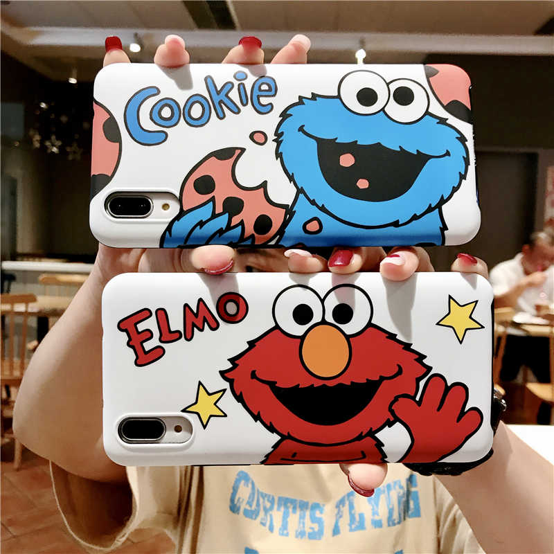 Japan Cartoon Phone Case For Huawei P30 P20 Lite Mate 20 Pro Cookie Elmo Cover Honor 7x 8x 8Pro 9N 20i V10 Play P10 Plus Case