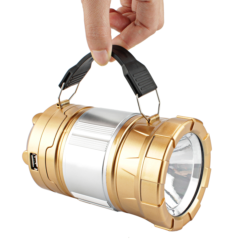 Solar LED Multifunctional stretching flashlight lantern LED light Large flashlight searchlight solar energy charge Mobile phone solar powered self recharging 3 led flashlight phone charger