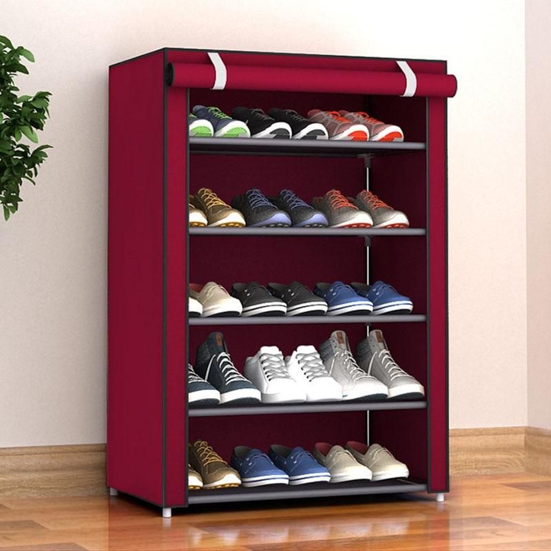 Shoe Storage Cabinet Dustproof Shoes Shelf Rack Organizer Non Woven Fabric Large Medium Small Shoe Racks Shelf Home Bedroom Shoe Racks Organizers Aliexpress