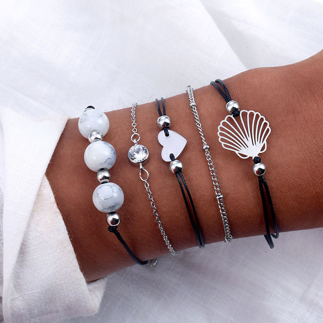 New bracelets bohemian gift bracelet ladies statement turtle bracelet handmade charm beads chain trend jewelry