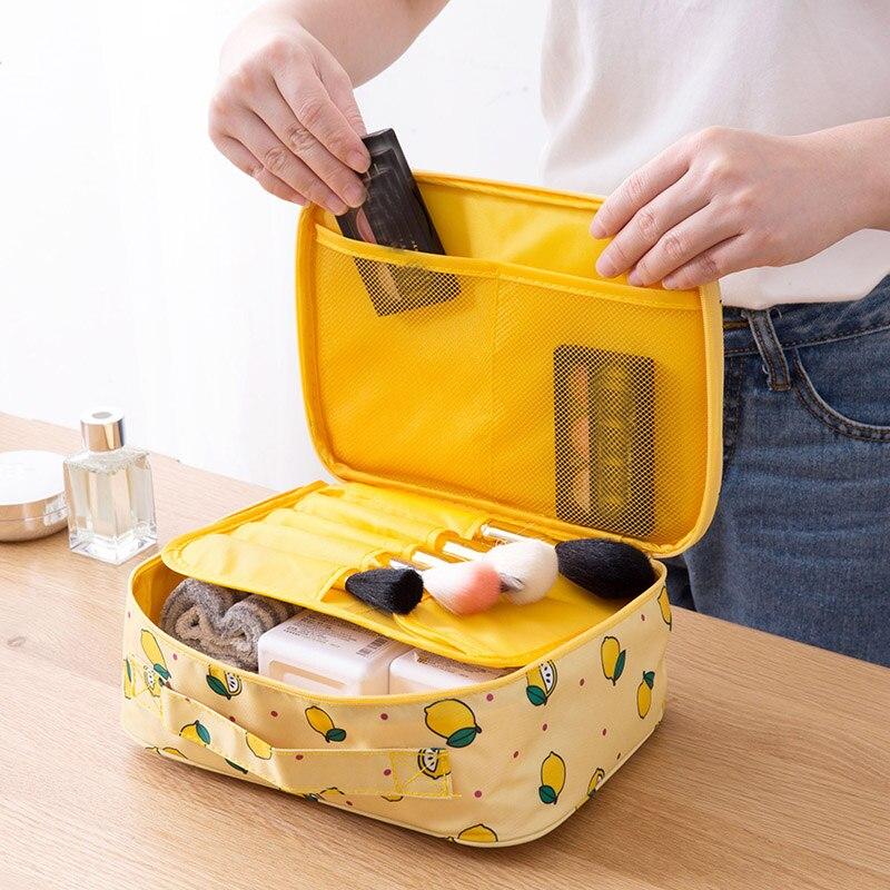 Large capacity portable cosmetic bag travel storage toiletries toiletries skin c