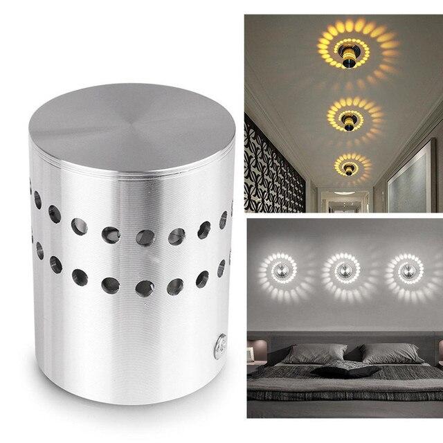 new energy saving led wall light lamp spiral hole wall lamp surface rh aliexpress com