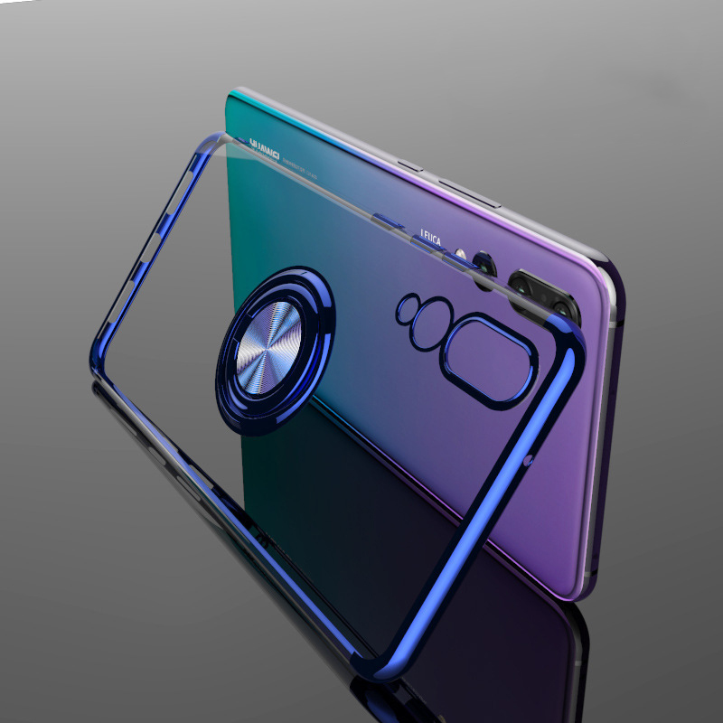 Elecplating Soft Case for Huawei P30 Pro Mate 30 20 P20 Lite Nova 5T 4e 3e Y9 Y7 Y5 Y6 2019 Honor V20 V10 Case Finger Ring Cover