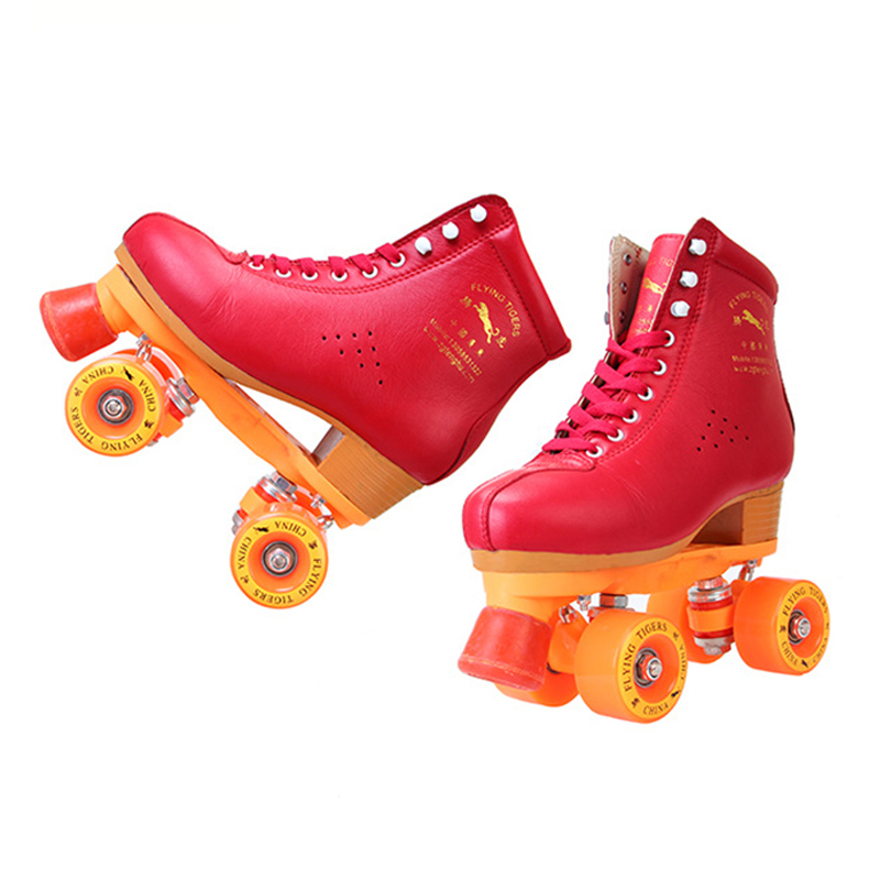 Children Adult Parenting Unisex Two Line Roller Skating Shoes Double Row Skates Kids 4 PU Wheels High Grade Genuine Leather IB62 children adult parenting two line roller shoes skating 4 wheels double row skates patins kids pu wheels adjustable unisex ib42