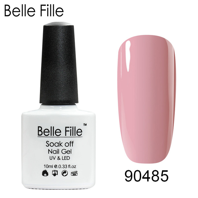 Belle Fille UV Gel Nail Polish Nude Gel Semi Permanent Lacquer Nail Art Design Soak Off UV Varnish Nail Gel Polish
