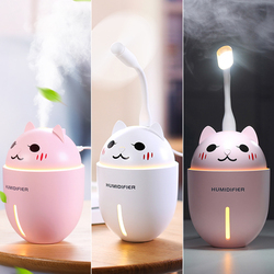 Mini Air humidifier essential oil diffuser With USB Led Light and Mini Fan mist maker fogger Electric Car Aroma Diffuser USB