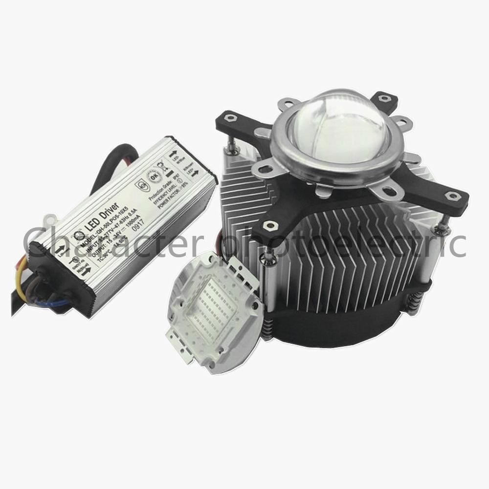 LED 50Watt 395nm -400nm UV Ultra Violet High Power LED +50W IP67 Waterproof Driver AC 85-265V +heatsink,lens LED  Kit
