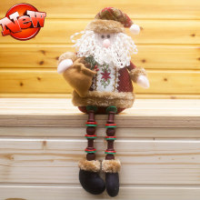 6 pcs/lot Christmas Snowman Deer Santa Claus,Christmas Decorations for Home Window,Elf On the Shelf Christmas Gift Plush Toys