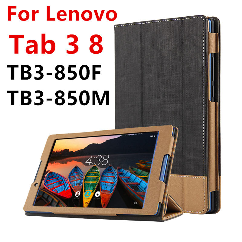 Case For Lenovo Tab 3 8 Protective Smart cover Faux Leather Tablet For TAB3 8 TB3-850F TB8-850M 8 inch PU Protector Sleeve Case smart cover silk print protective leather case cover for 8 inch lenovo yoga b6000 tablet pc gift screen protector pen stylus