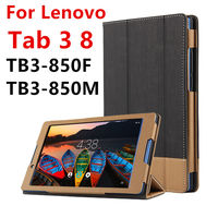 Case For Lenovo Tab 3 8 Protective Smart Cover Faux Leather Tablet For TAB3 8 TB3