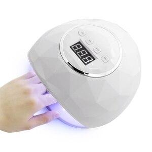 Image 1 - Esenail sèche ongles UV lampe à LED, lampe à double main, pour le traitement du vernis Gel, avec capteur et minuterie, affichage LCD, 39 pièces