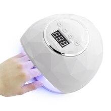Gail secador de unha uv 86w, lâmpada uv, 39 peças, leddual mãos, para cura, esmalte de unha em gel com temporizador sensor de tela lcd