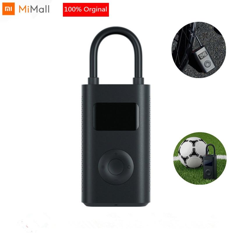 Xiaomi Mijia Inflatable tire Pressure Digital Monitor Portable Tire Compressor Multi nozzle for football bicycle Car