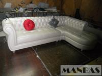 European Style Living Room Furniture Top Genuine Leather Sofa Chesterfield L Shape Living Room Sofa SF371