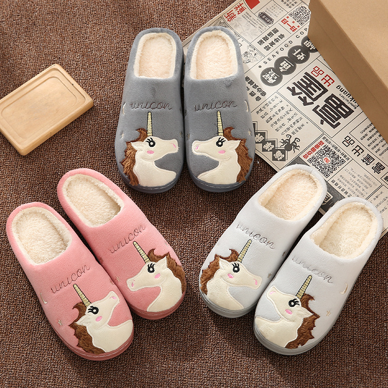 Teenager Slippers Home Slippersslippers Zapatillas Hombre Unicorn Couple Slippers Floor Shoes Slides Slippers in Slippers from Shoes