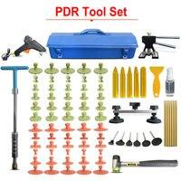 PDR Инструменты комплект Paintless Дент Ремонт Инструменты комплект автомобиля Дент набор инструментов Пистолеты для склеивания вмятина съемни