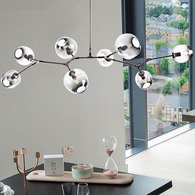 acheter moderne en verre pendentif lumi re nordique salle manger cuisine. Black Bedroom Furniture Sets. Home Design Ideas