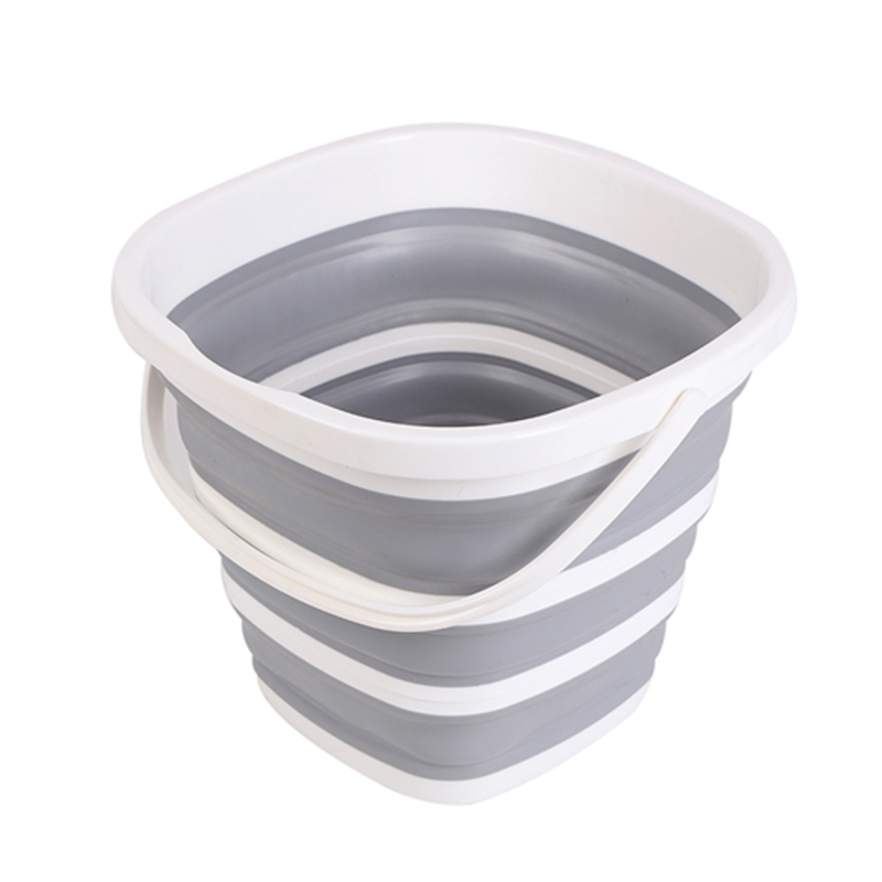 Silicone Bucket for Fishing Promotion Folding Bucket Car Wash Outdoor Fishing Supplies Square 10L Bathroom Kitchen Camp Bucket in Buckets from Home Garden