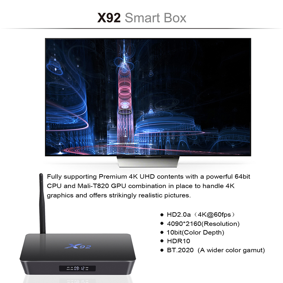 IPTV France X92 3GB 32GB Smart Android 7.1 TV Box S912 Octa Core Dual WiFi SUBTV Code Europe Arabic French IPTV Subscription (4)