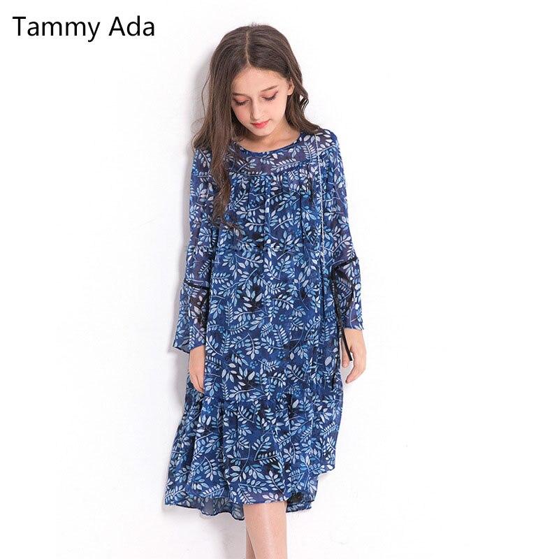 Tammy Ada Fashion Girls Dress Korean Princess Floral Print -9526